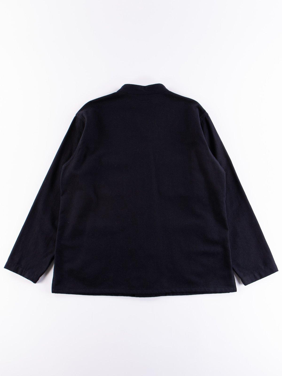 Dark Navy Wool Cotton Flannel Dayton Shirt - Image 5