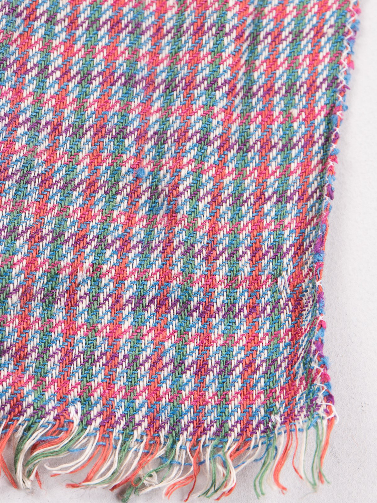 Red/Green Check Linen Neck Scarf - Image 3