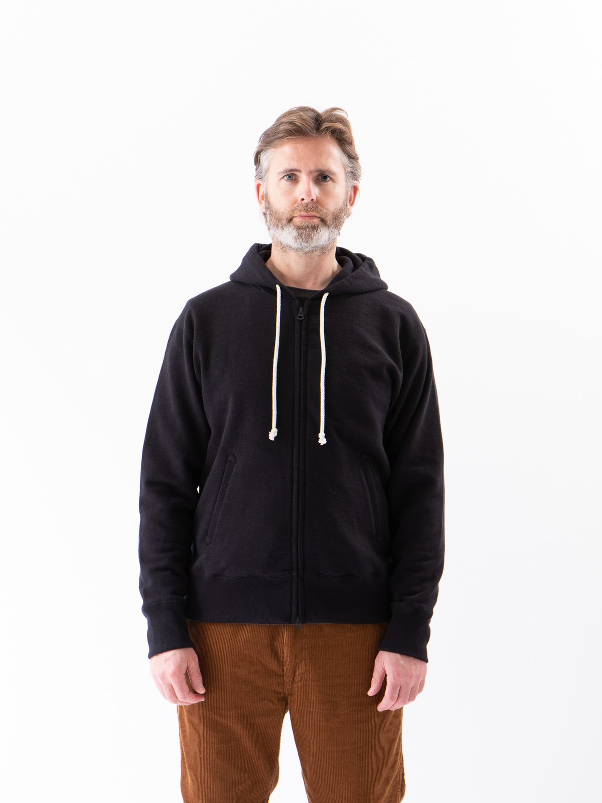 Black GG Full Zip Sweatshirt - Image 2