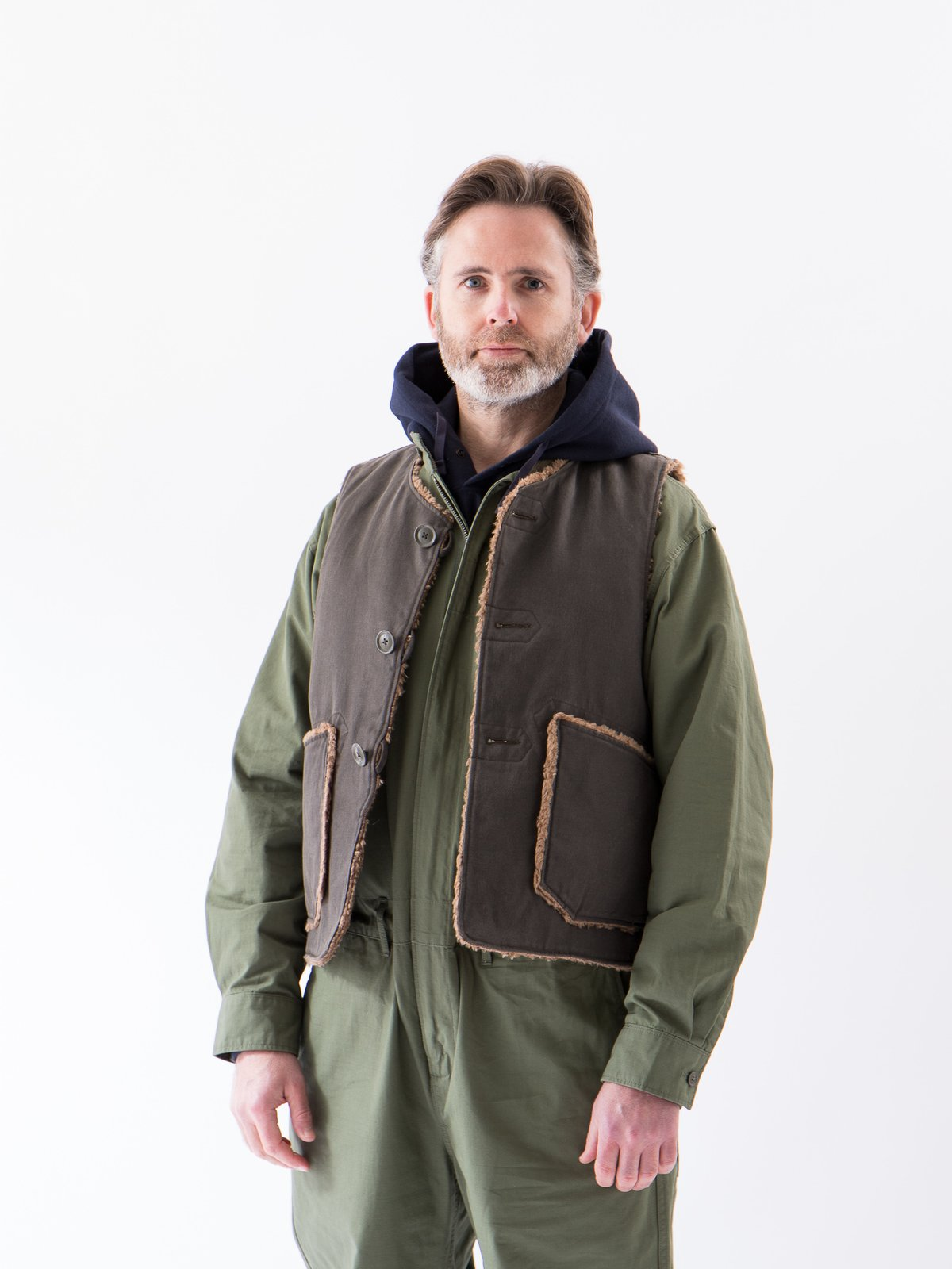 Olive Cotton Ripstop Boiler Suit - Image 3