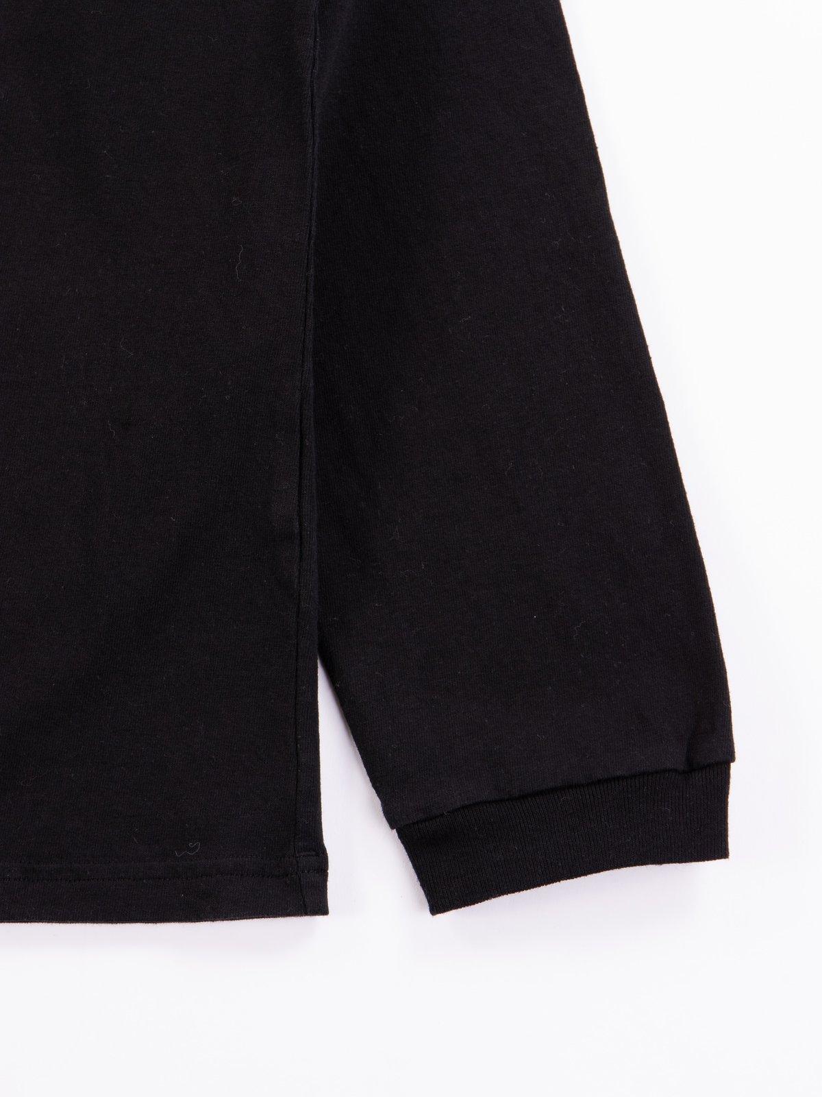 Black Long Sleeve Pocket T–Shirt - Image 4