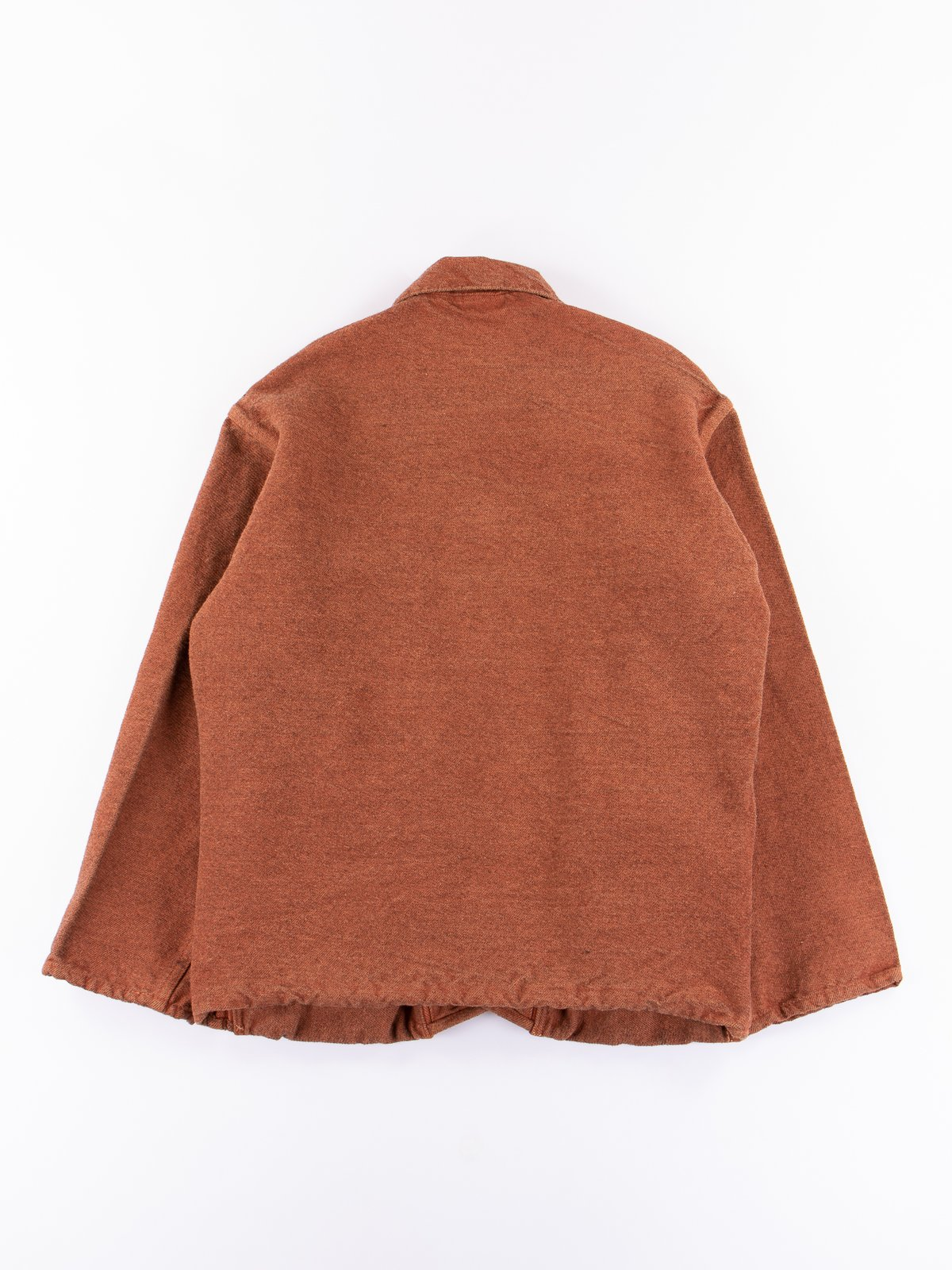 Red Ochre Dye Collared Shepherd's Coat - Image 6