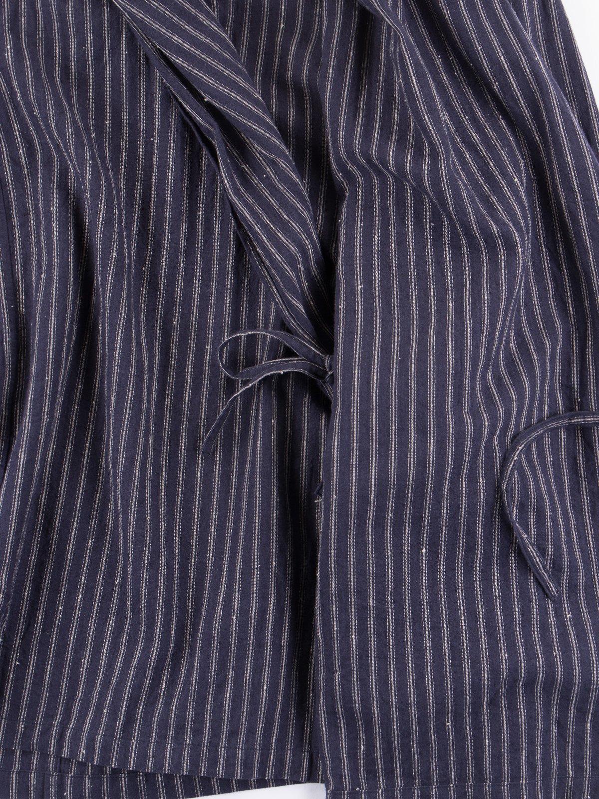 Dark Navy Stripe Robe Jacket - Image 4