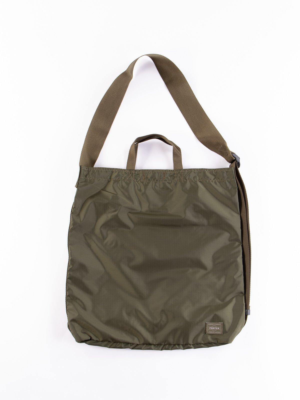 Olive Drab Flex 2Way Shoulder Bag - Image 1