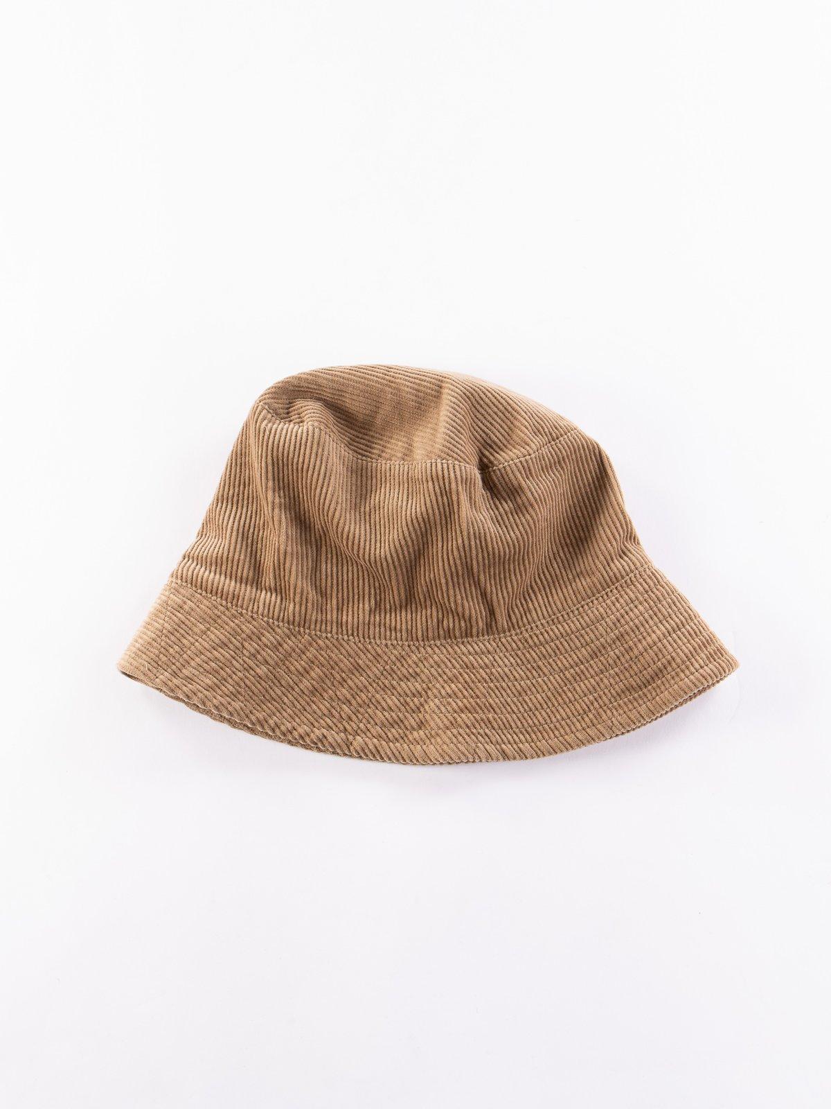 Khaki 8W Corduroy Bucket Hat - Image 1