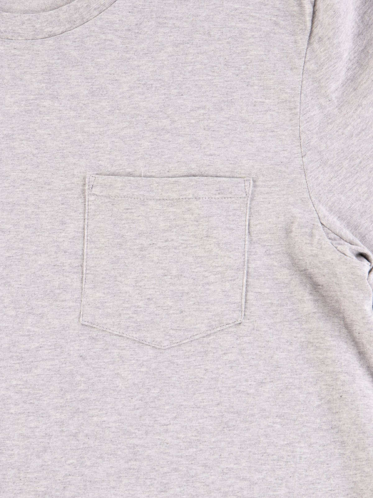 Grey Melange Good Basics CTP01 Pocket Crew Neck Tee - Image 4