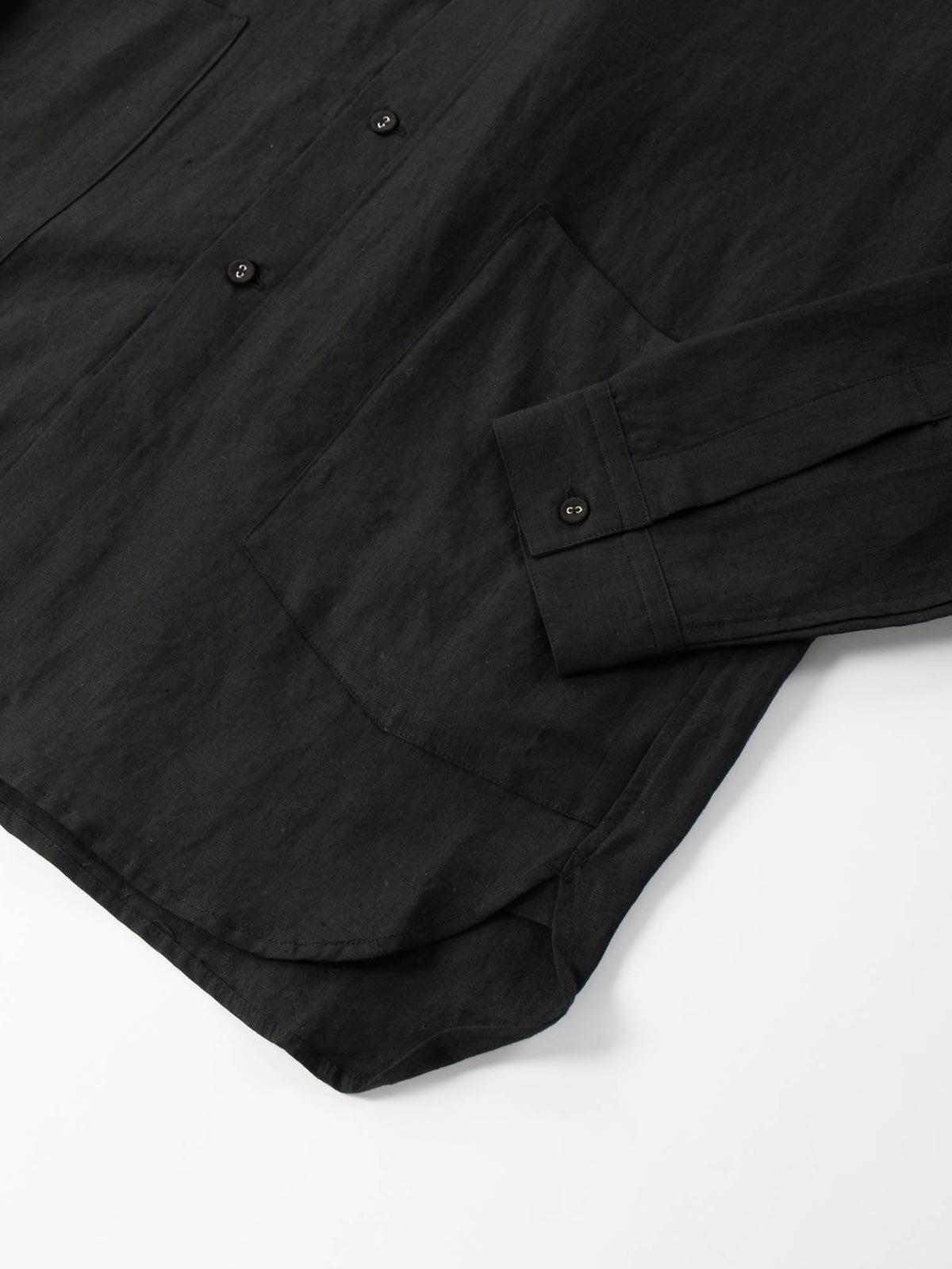 LINEN GARDNER SHIRT BLACK - Image 5