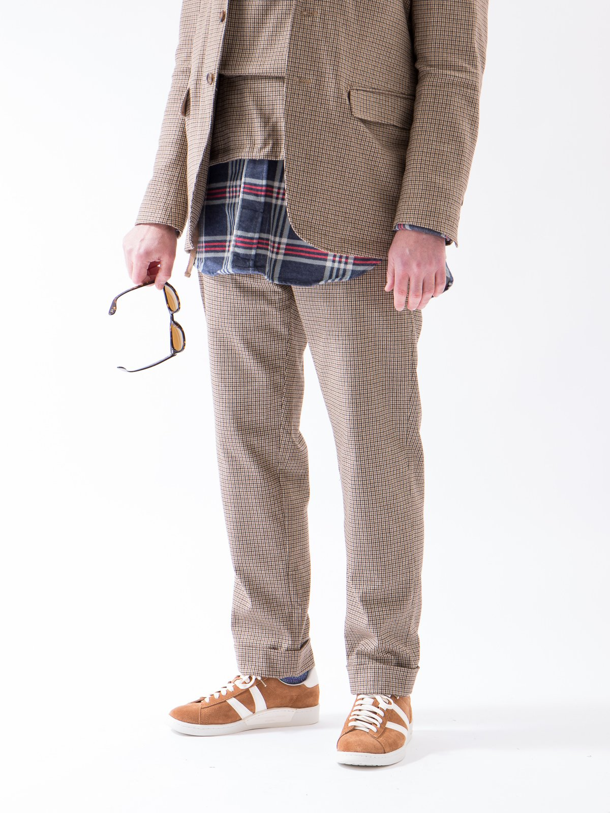Brown Wool Poly Gunclub Check Andover Pant - Image 3