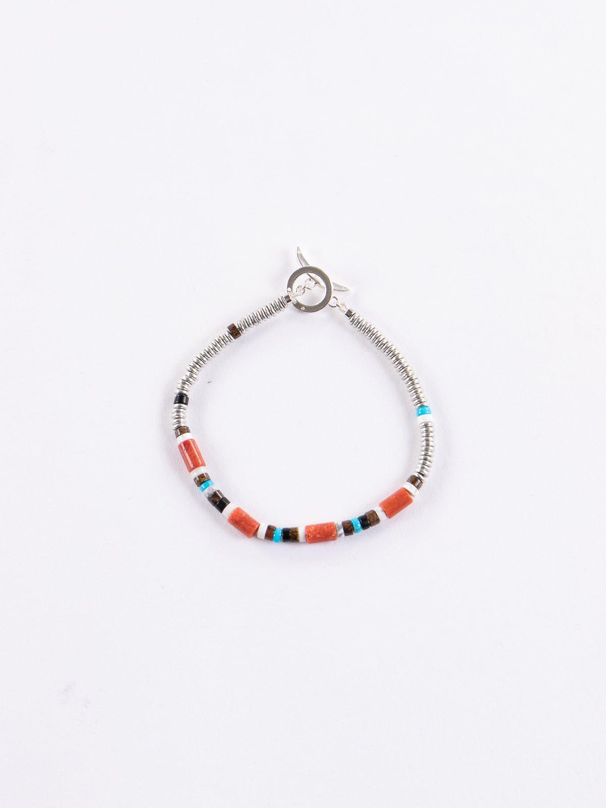 Coral Tube Beads Bracelet - Image 1