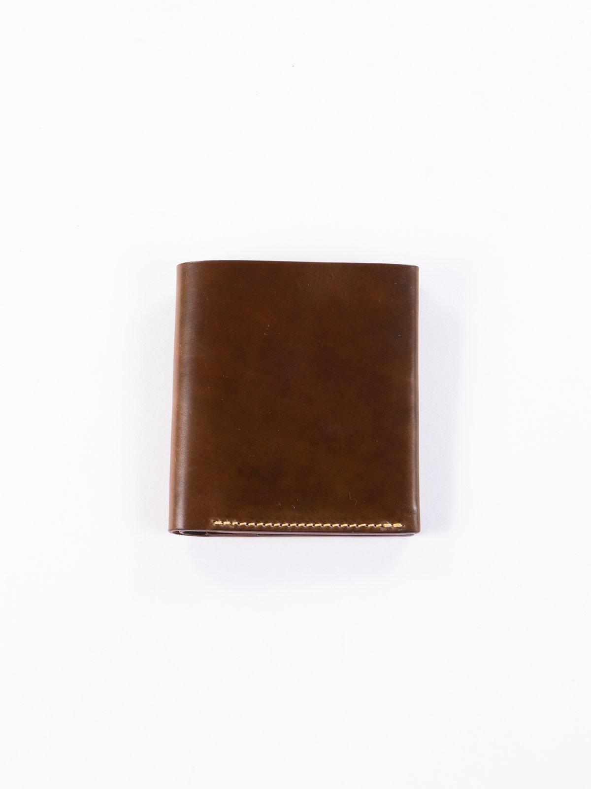 Cognac Horween Cordovan 3–3 Wallet - Image 1