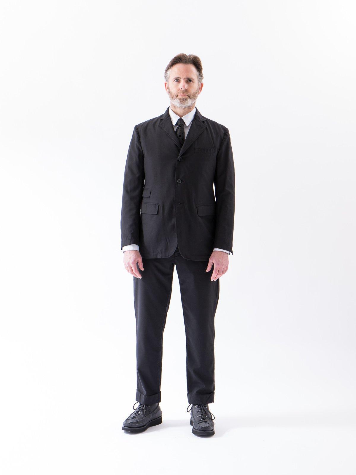 Black Worsted Wool Gabardine Andover Pant - Image 2