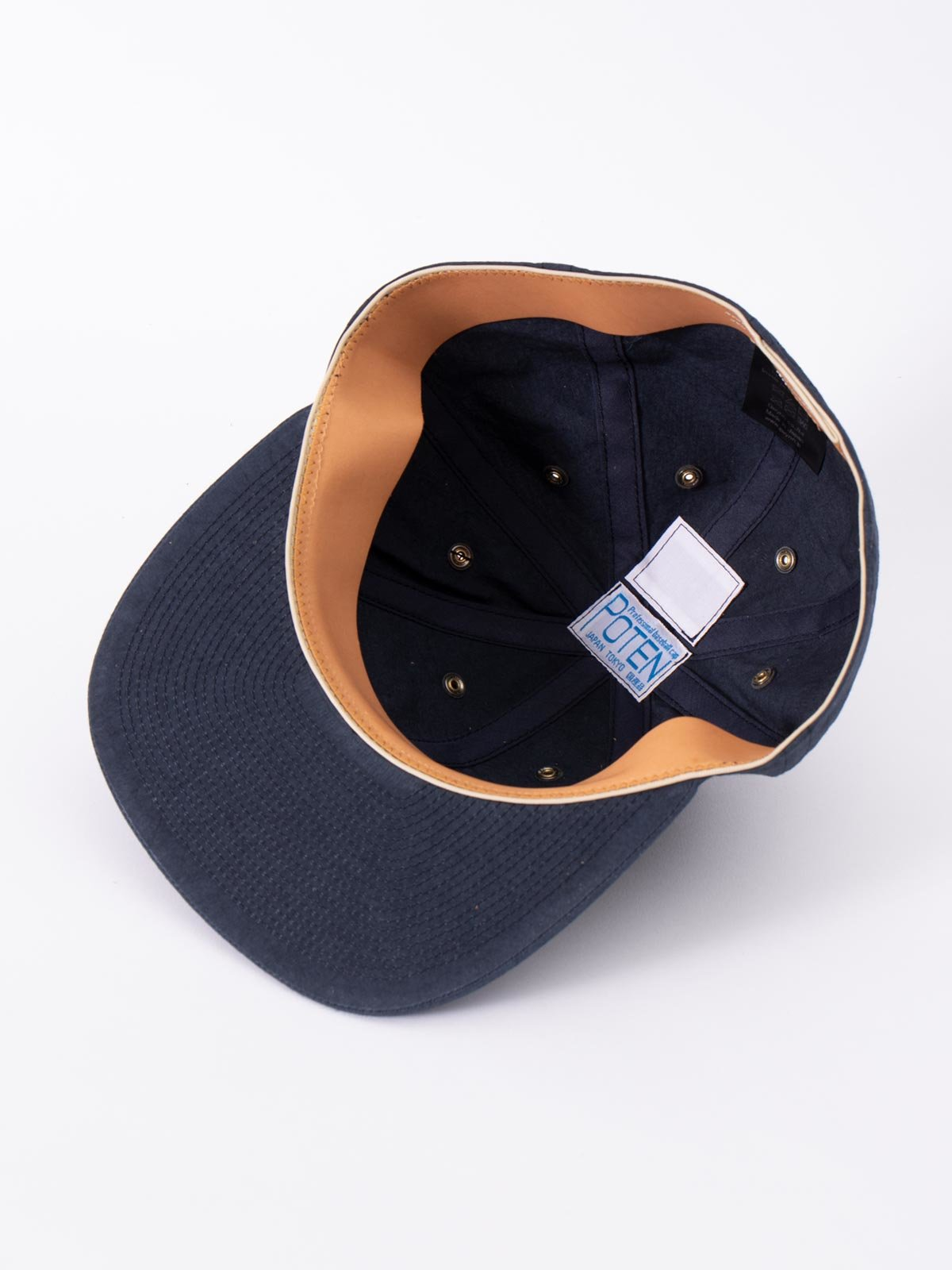 NAVY SPECIAL DYED COTTON / LINEN CAP - Image 4