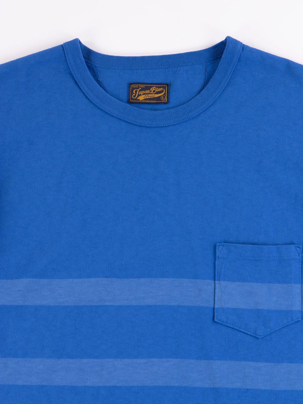 Blue Stripe Cote D'Ivoire Cotton T–Shirt - Image 2