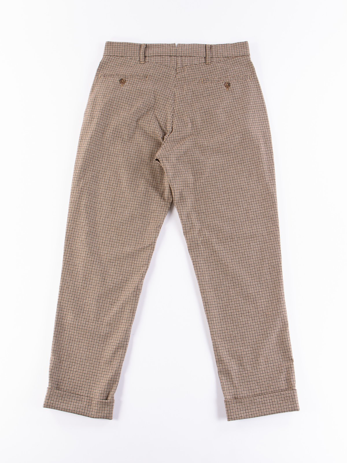 Brown Wool Poly Gunclub Check Andover Pant - Image 7
