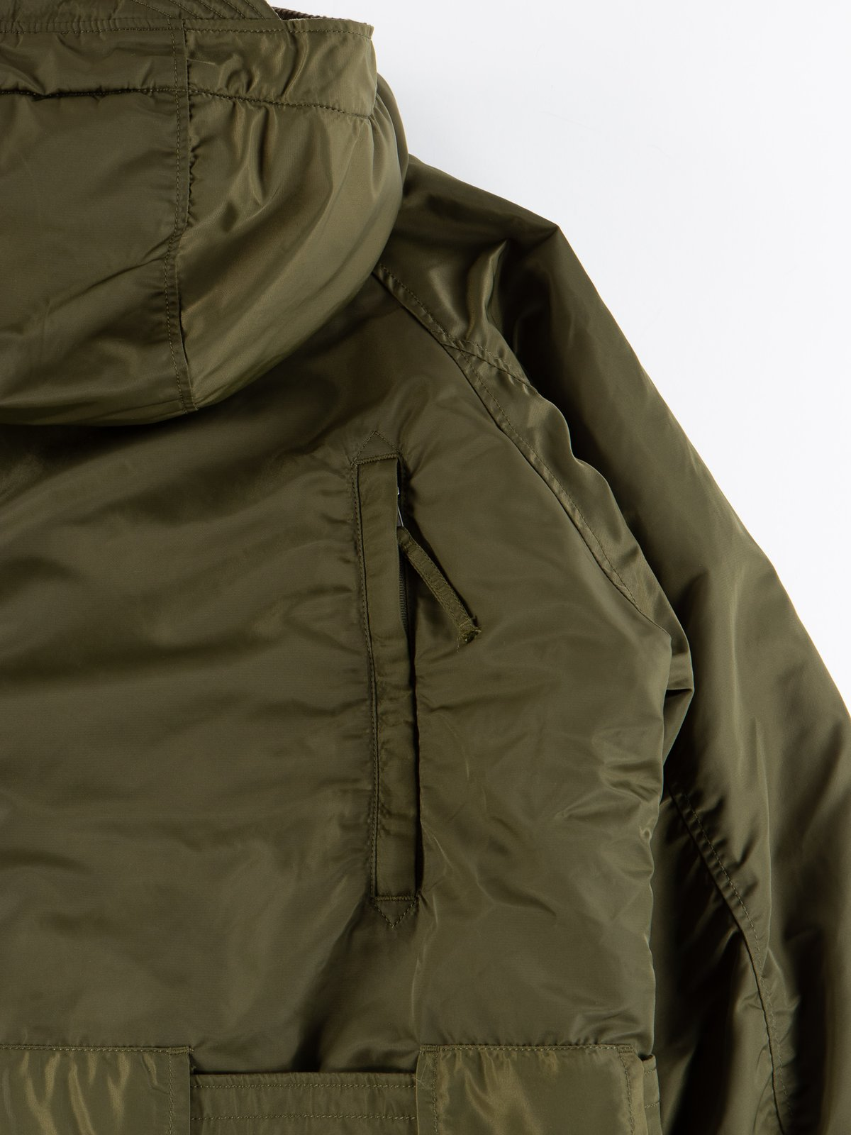 Olive Flight Satin Nylon Field Parka - Image 10