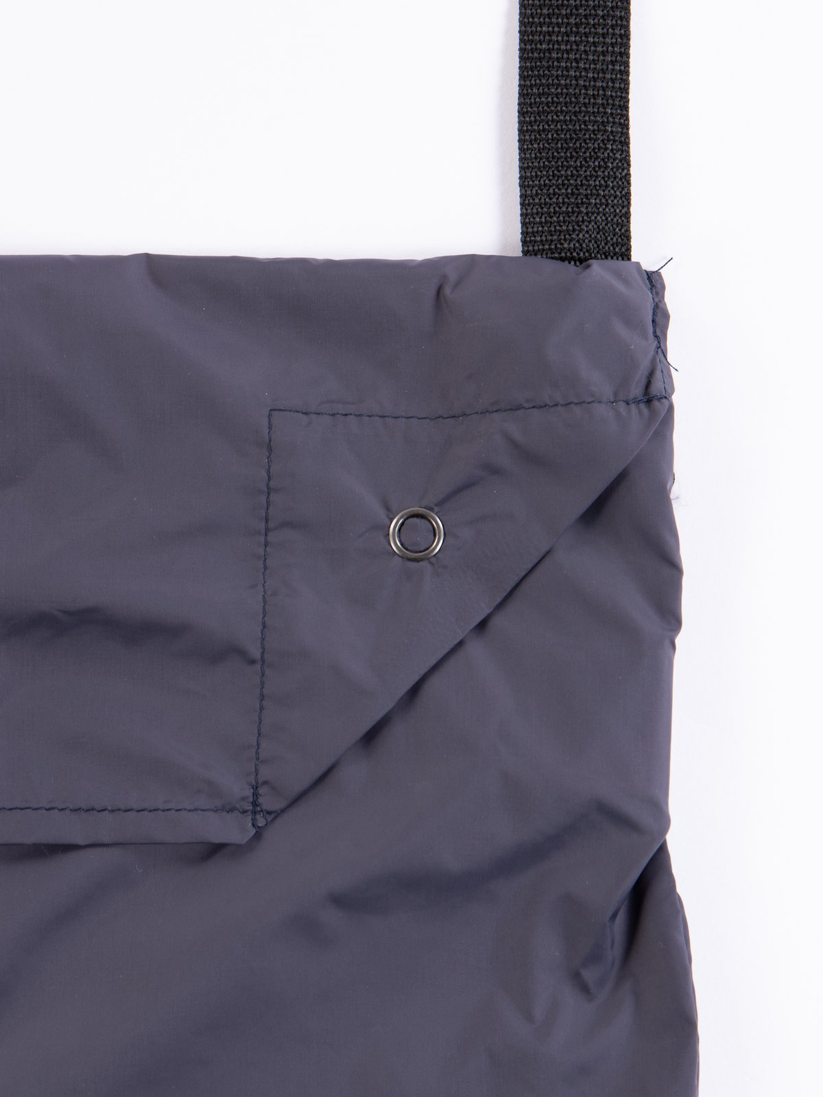 Dark Navy Nylon Taffeta Shoulder Pouch - Image 3