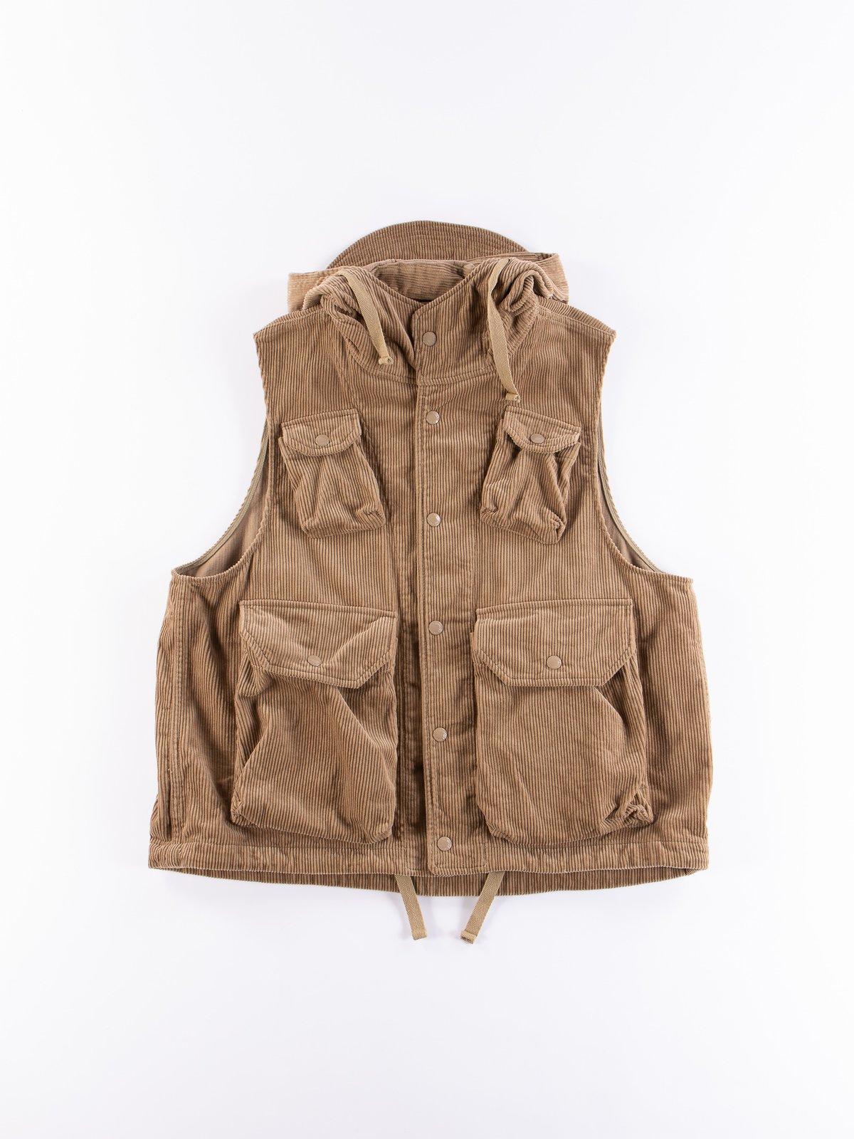 Khaki 8W Corduroy Field Vest - Image 1