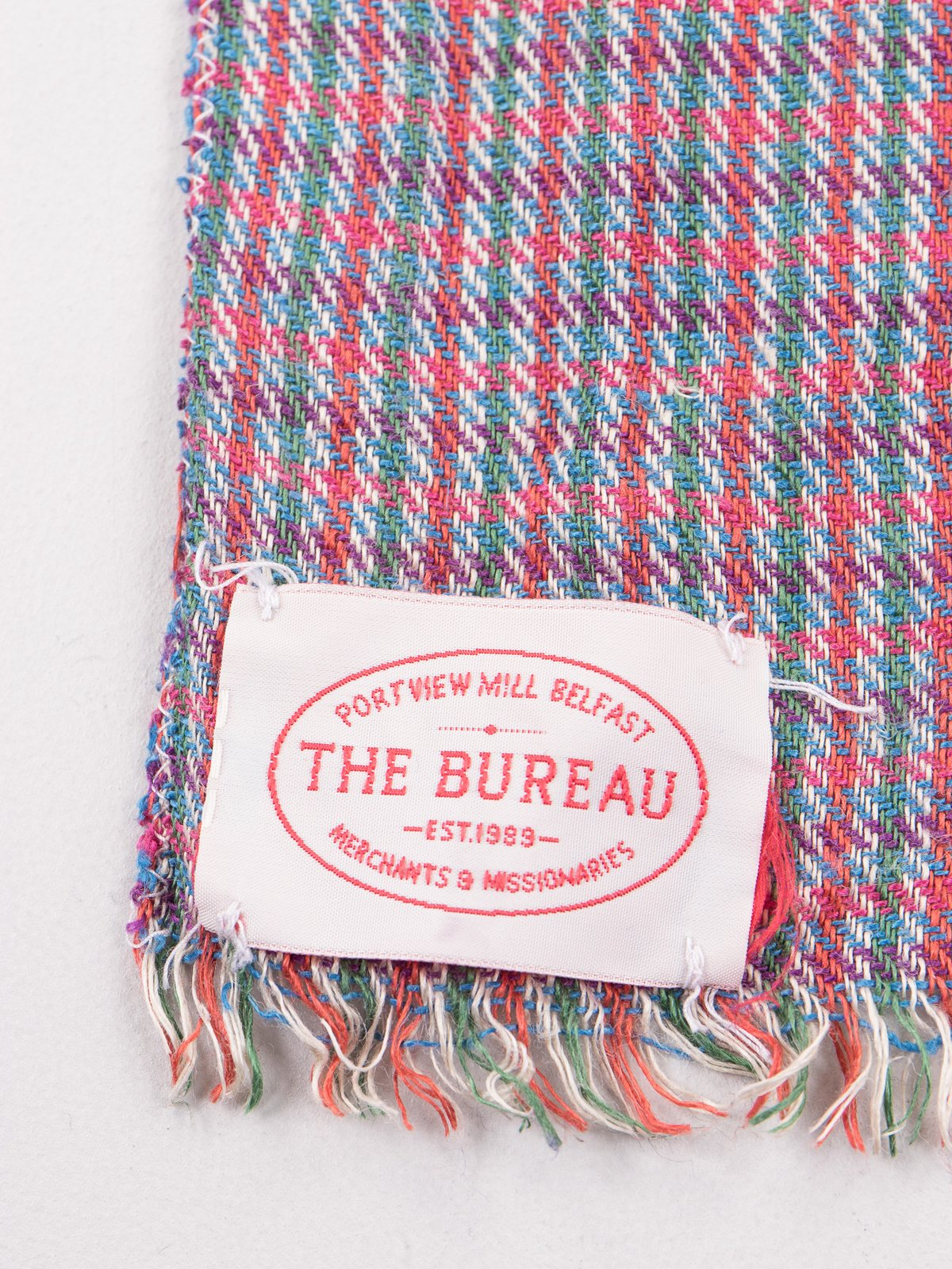 Red/Green Check Linen Neck Scarf - Image 2