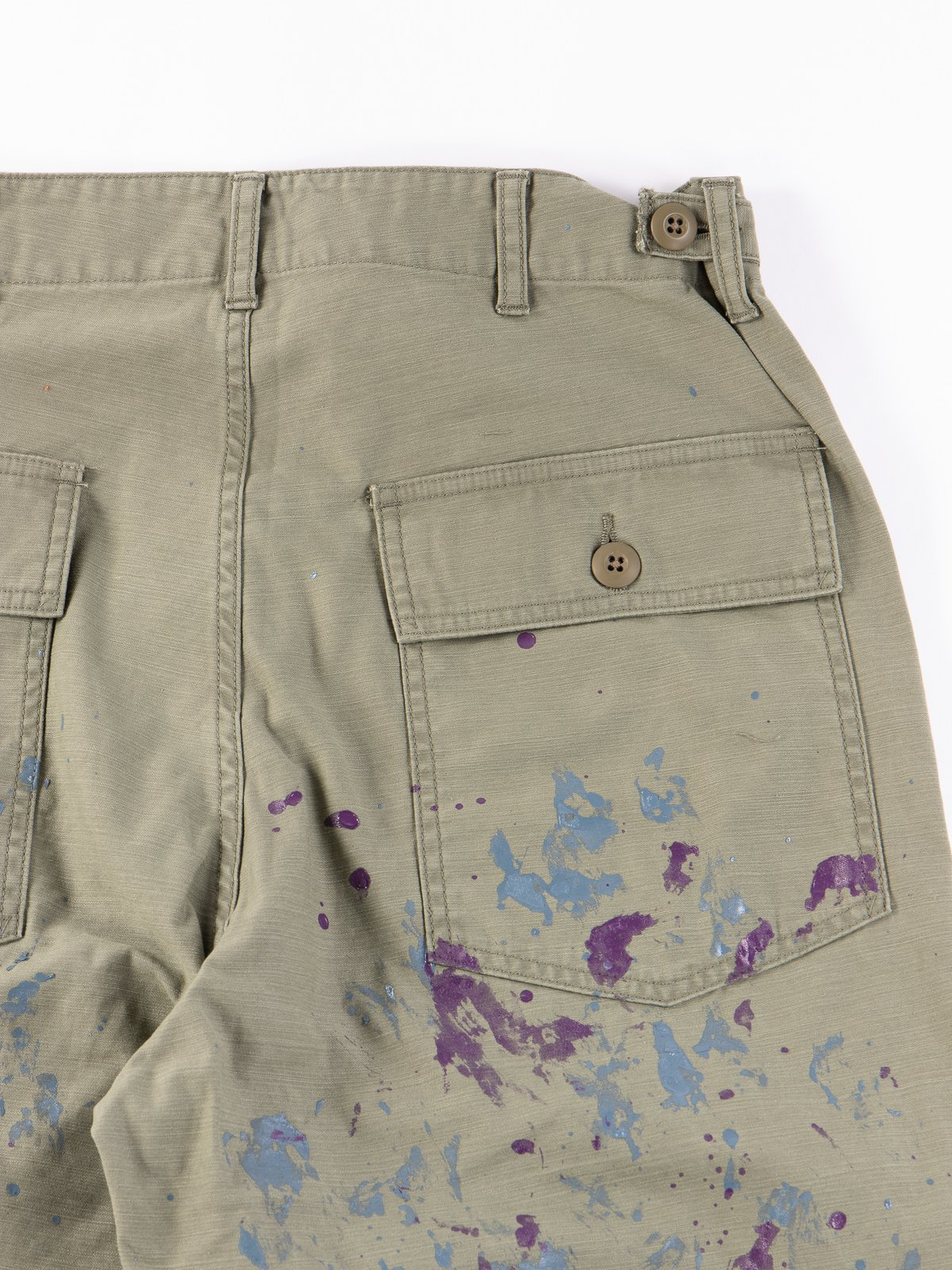 Olive Paint Sateen Fatigue Pant - Image 5