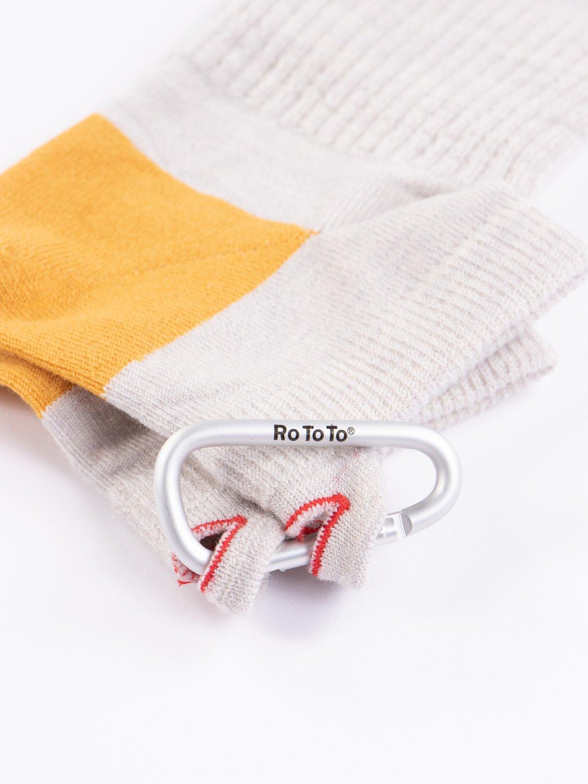 Ivory/Yellow Hiker Trash Crew Socks - Image 2