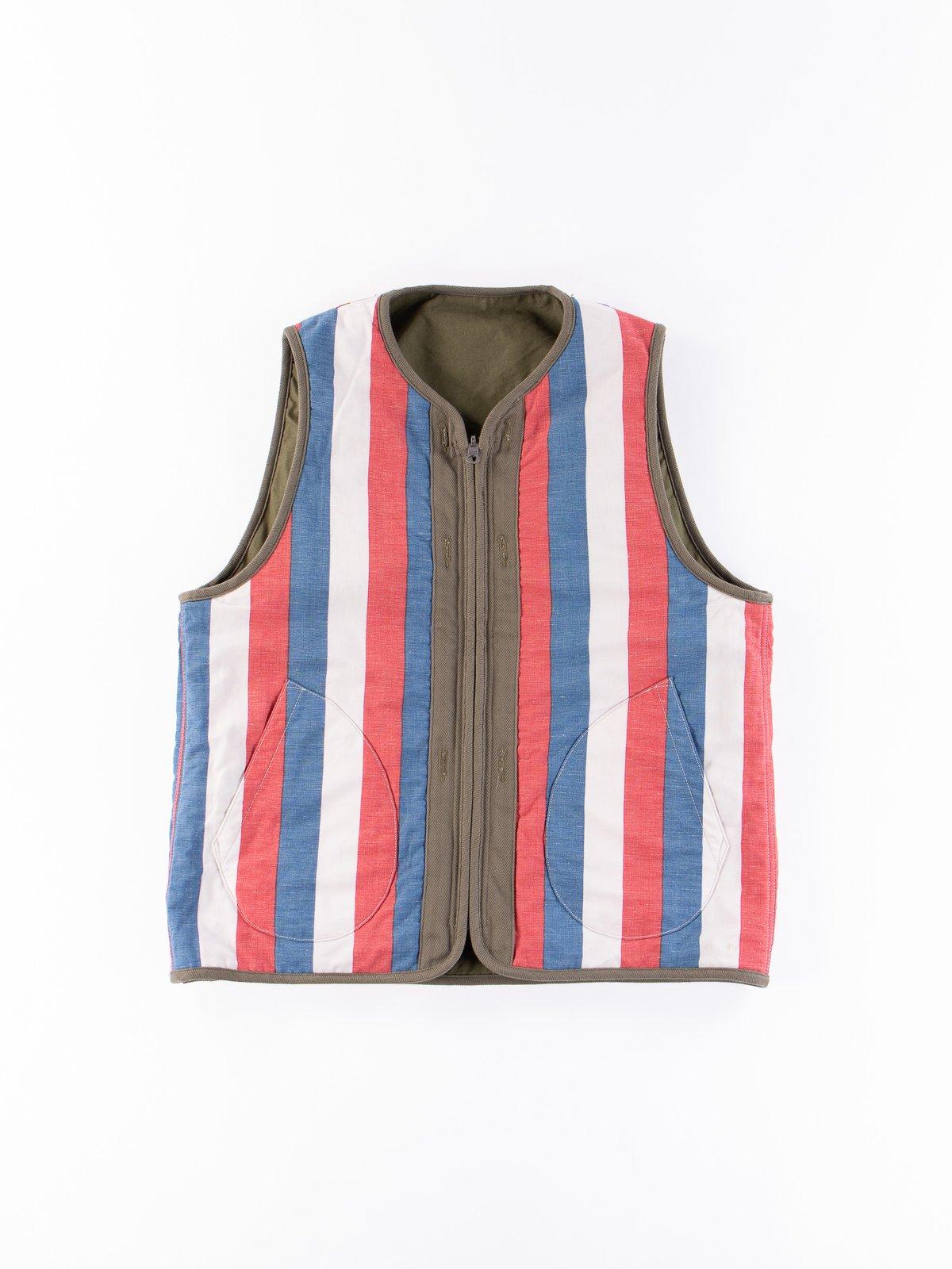 Olive Iris Cotton Liner Vest - Image 7