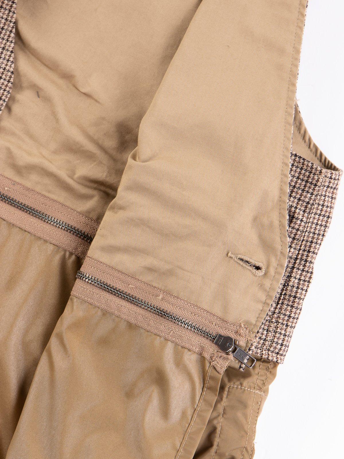Brown Wool Poly Gunclub Check Long Fowl Vest - Image 6