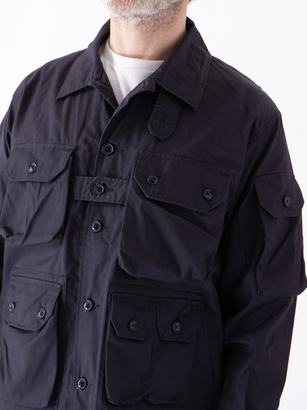 Dark Navy Highcount Twill Explorer Shirt Jacket - Image 3