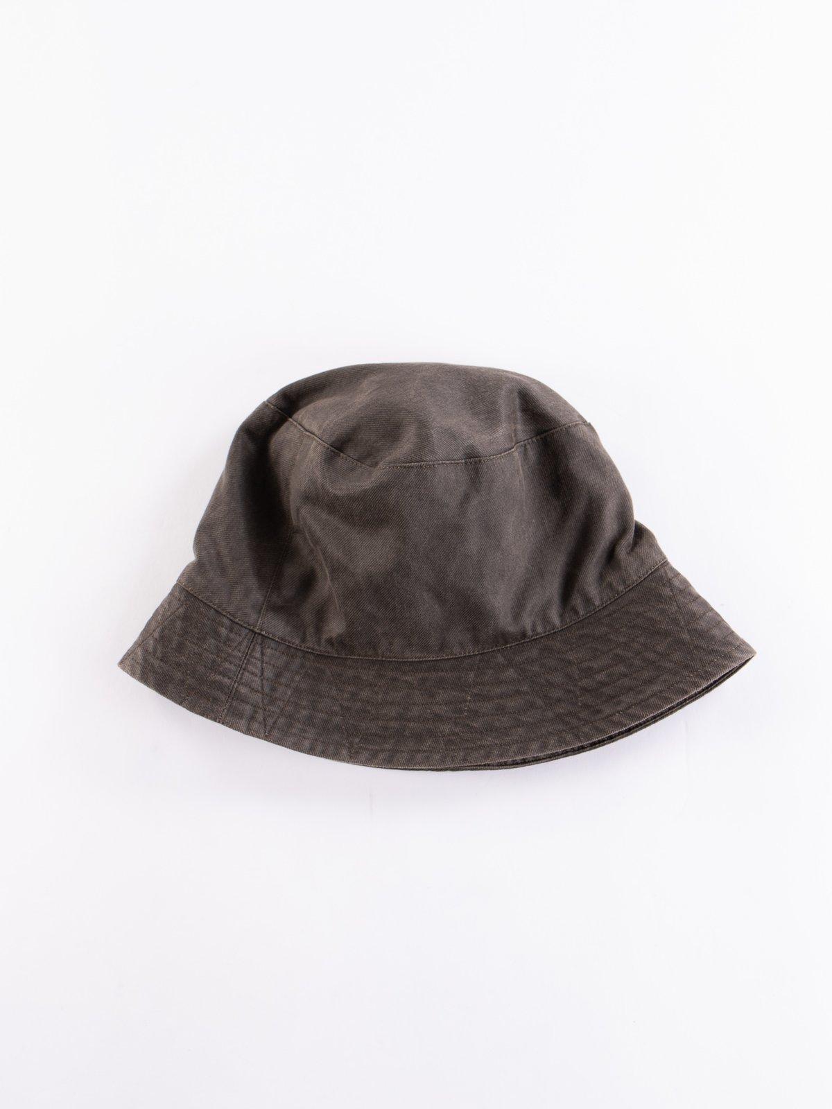 Dark Olive Coated Twill Bucket Hat - Image 1