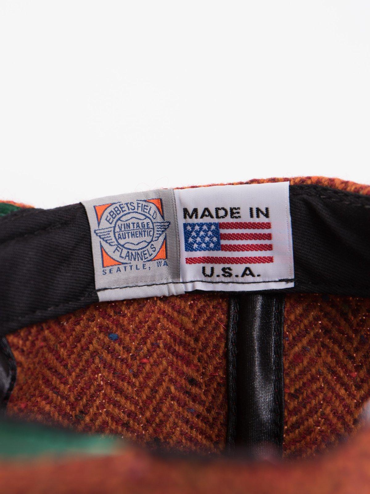 Rust HB Tweed NIer 6 Panel Ballcap - Image 8