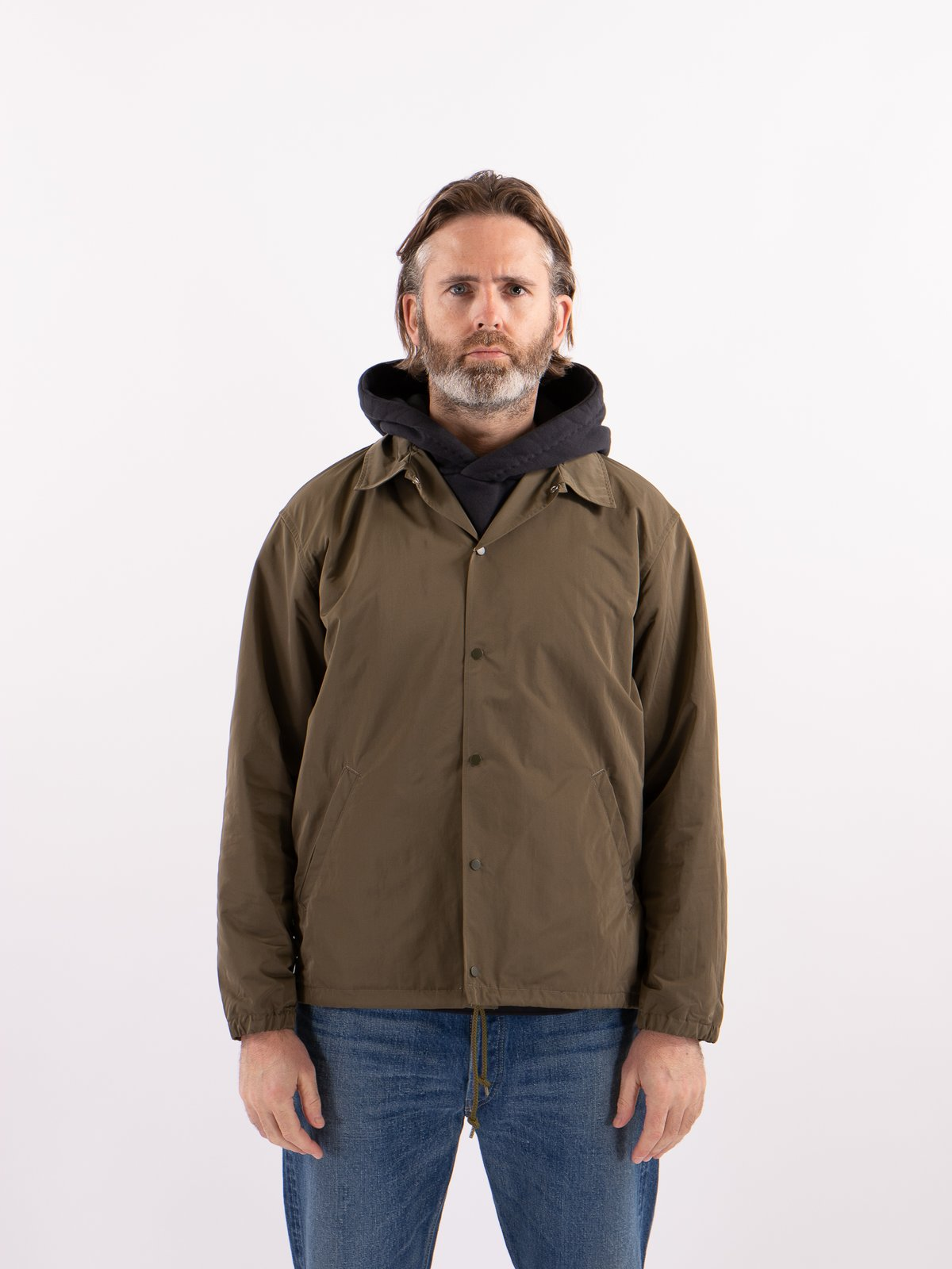 Khaki Coach Jacket - Image 2