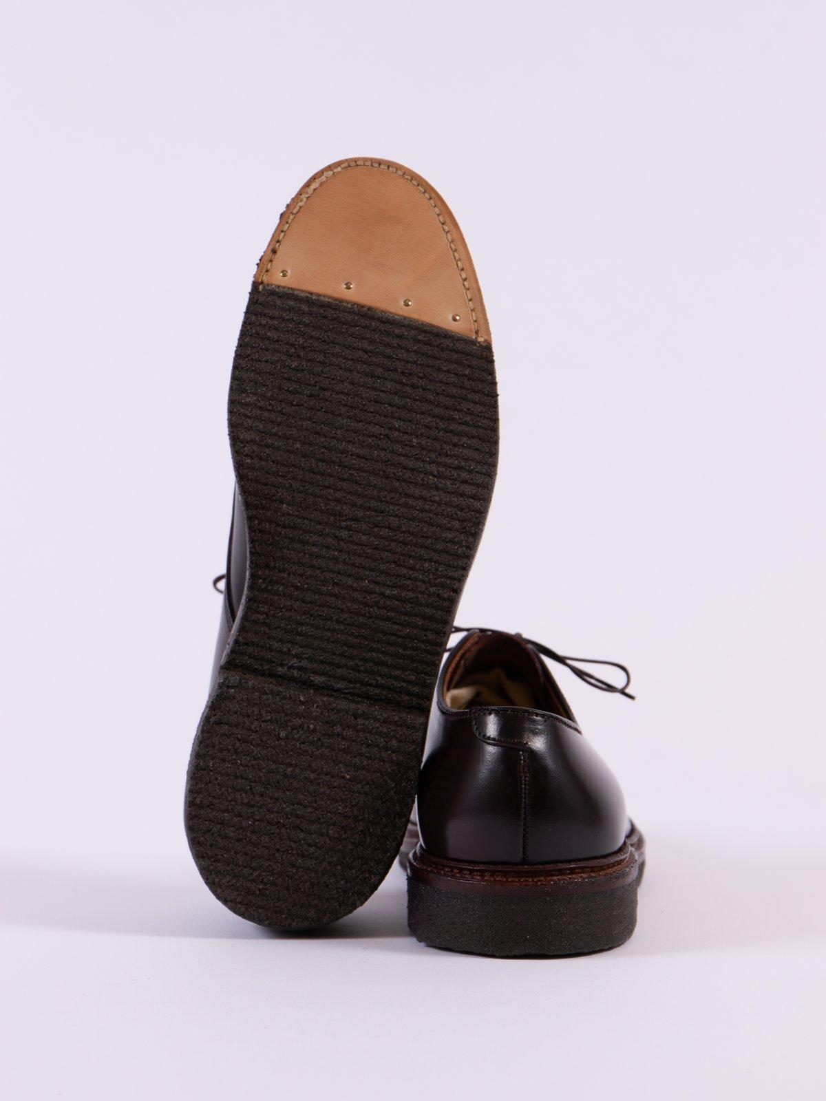 Color 8 Cordovan Plain Toe Blucher with Crepe Sole - Image 5