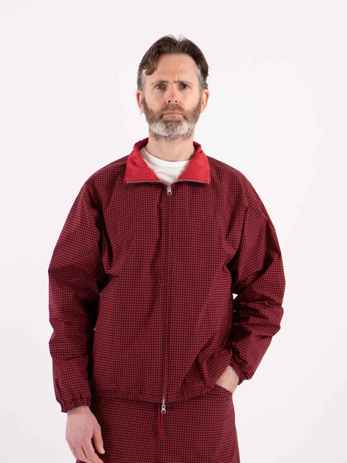Red Gingham Reversible Jacket - Image 2