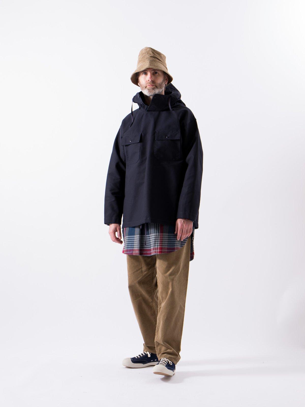 Navy Cotton Double Cloth Cagoule Shirt - Image 2
