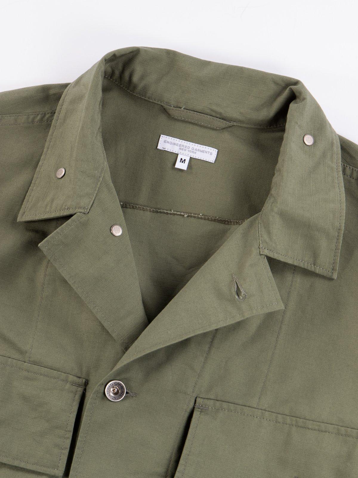 Olive Cotton Ripstop M43/2 Shirt Jacket - Image 7