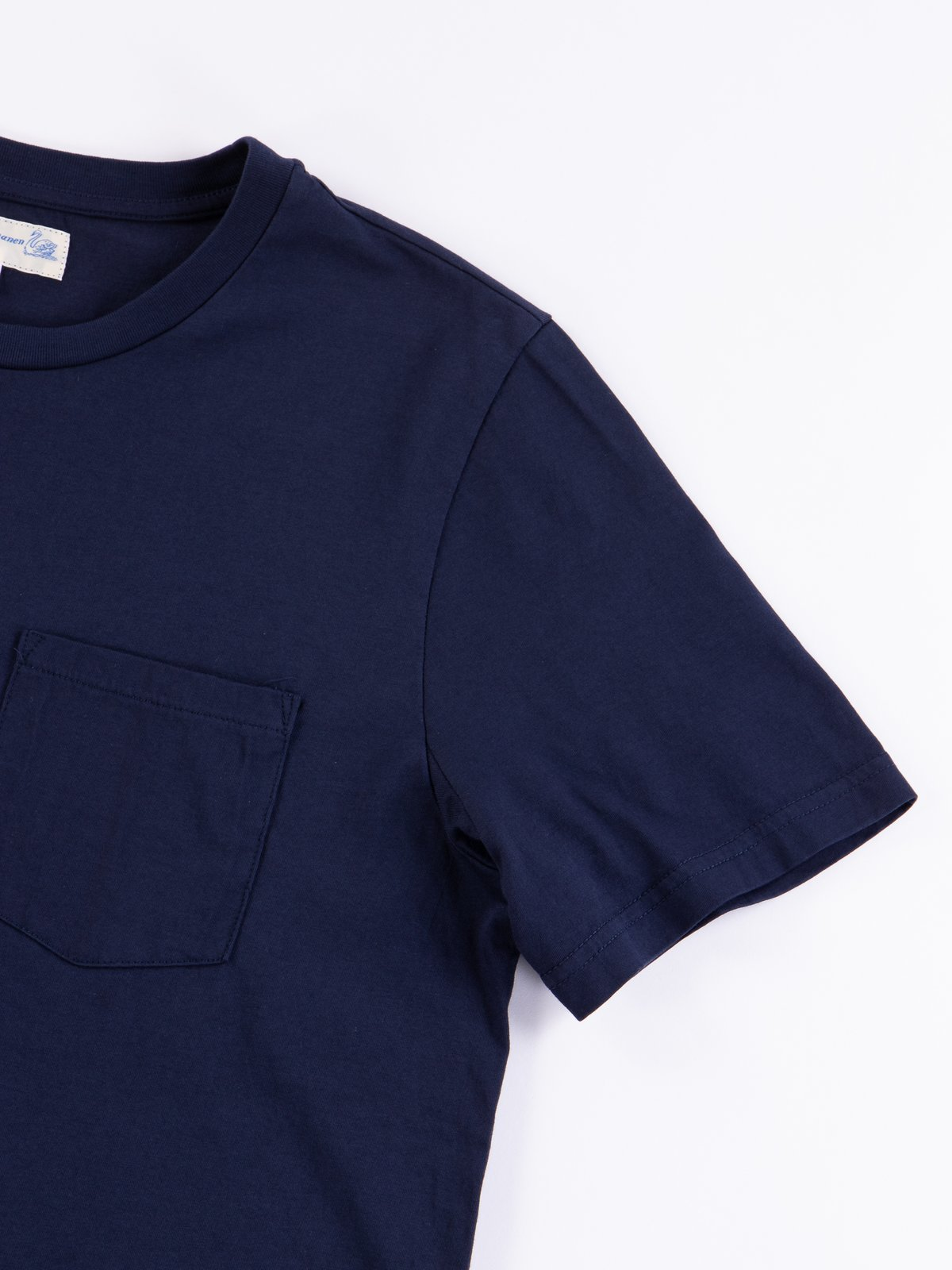 Deep Blue Good Basics CTP01 Pocket Crew Neck Tee - Image 3