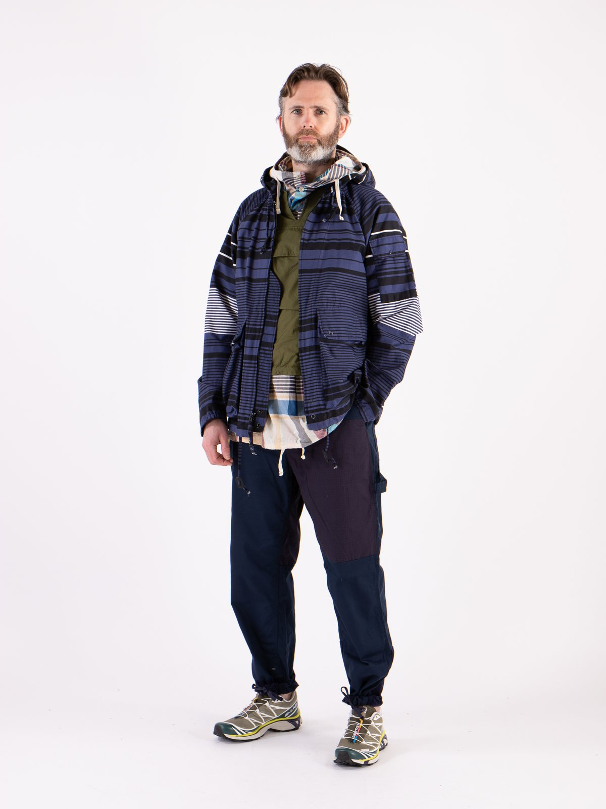 Navy Horizontal Stripe Activecloth Atlantic Parka - Image 2