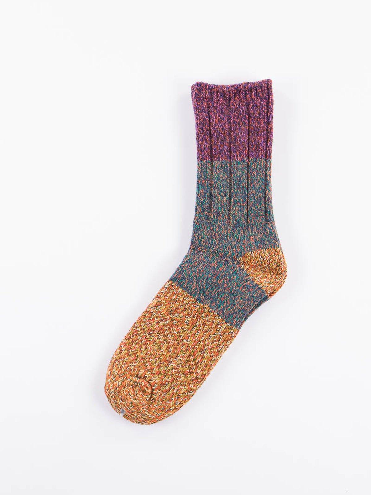 Purple Van Gogh Wool Socks - Image 1
