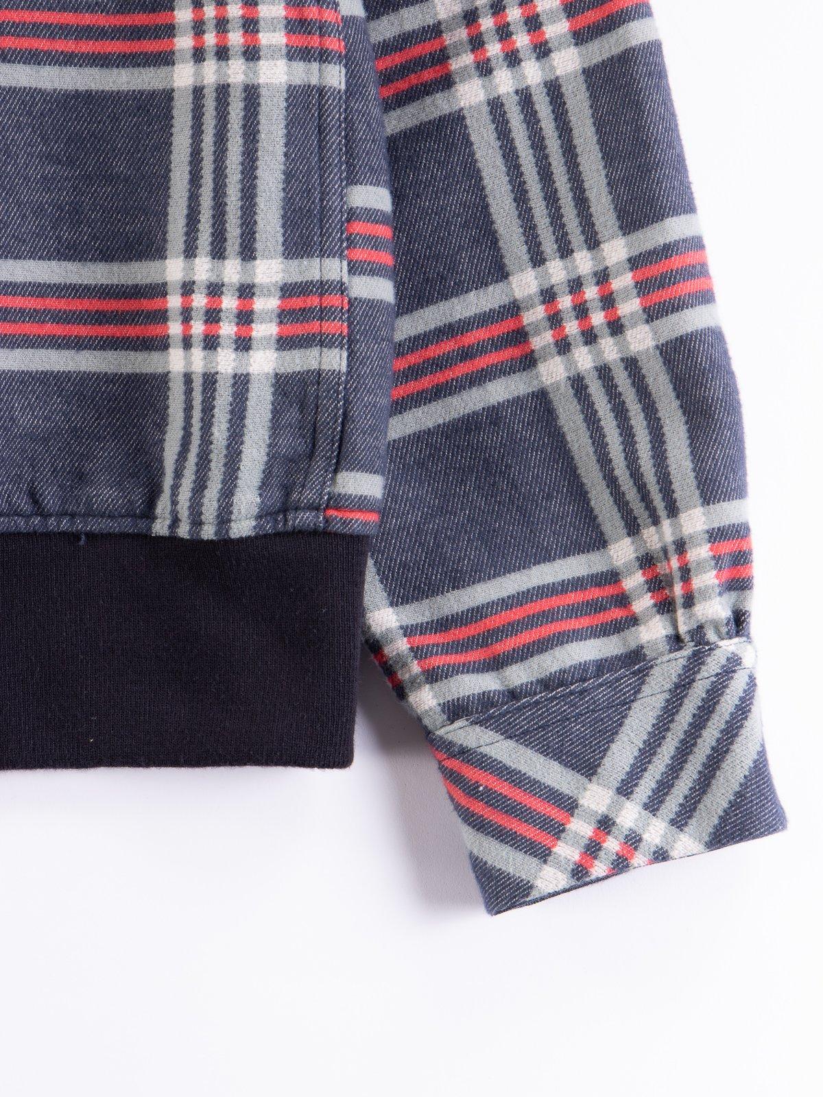 Navy/Teal/Red Big Plaid Classic Shirt - Image 4