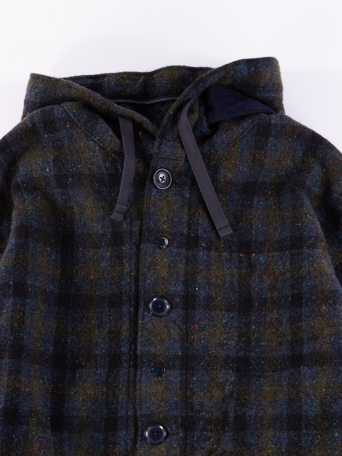 Navy Check Donegal Wool Tweed Madison Parka - Image 4