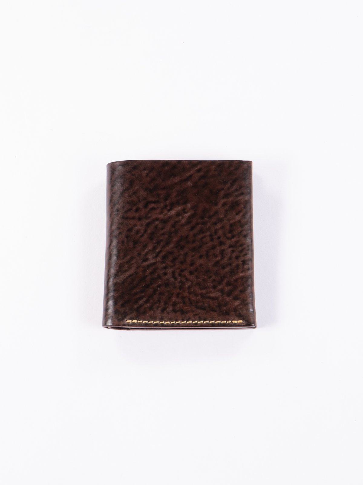 Tumbled Color 8 Horween Cordovan 3–3 Wallet - Image 1