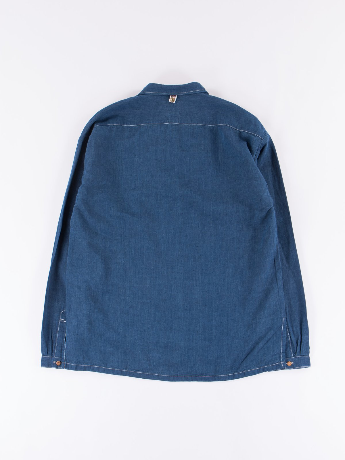 Navy Chambray Kerchief Tunic Shirt - Image 6