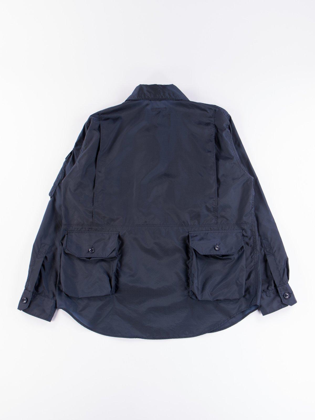 Navy Nylon Micro Ripstop Explorer Shirt Jacket  - Image 7