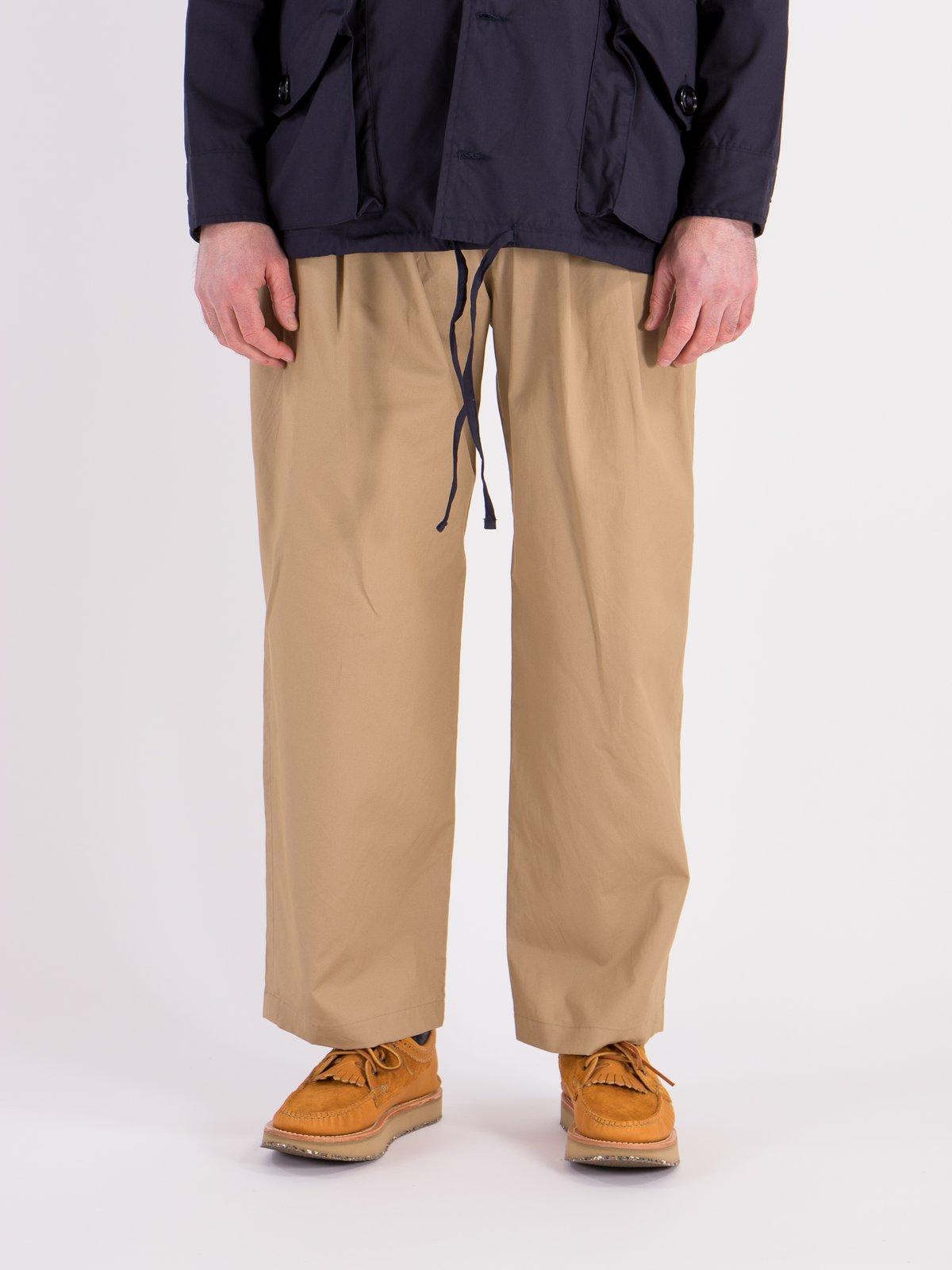 Khaki Oxford Vancloth Triple Tuck Wide Pant - Image 2