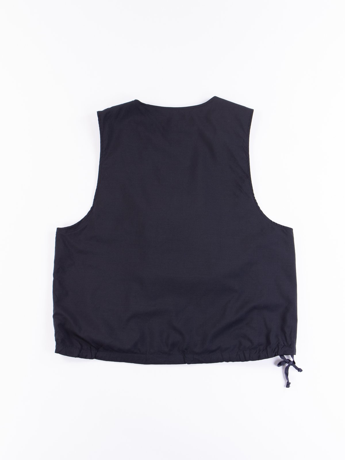 Dark Navy Tropical Wool Cover Vest - Image 5