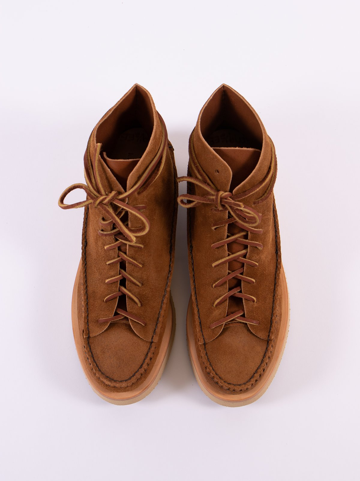 Golden Brown All Handsewn Sneaker Moc High Boot - Image 8