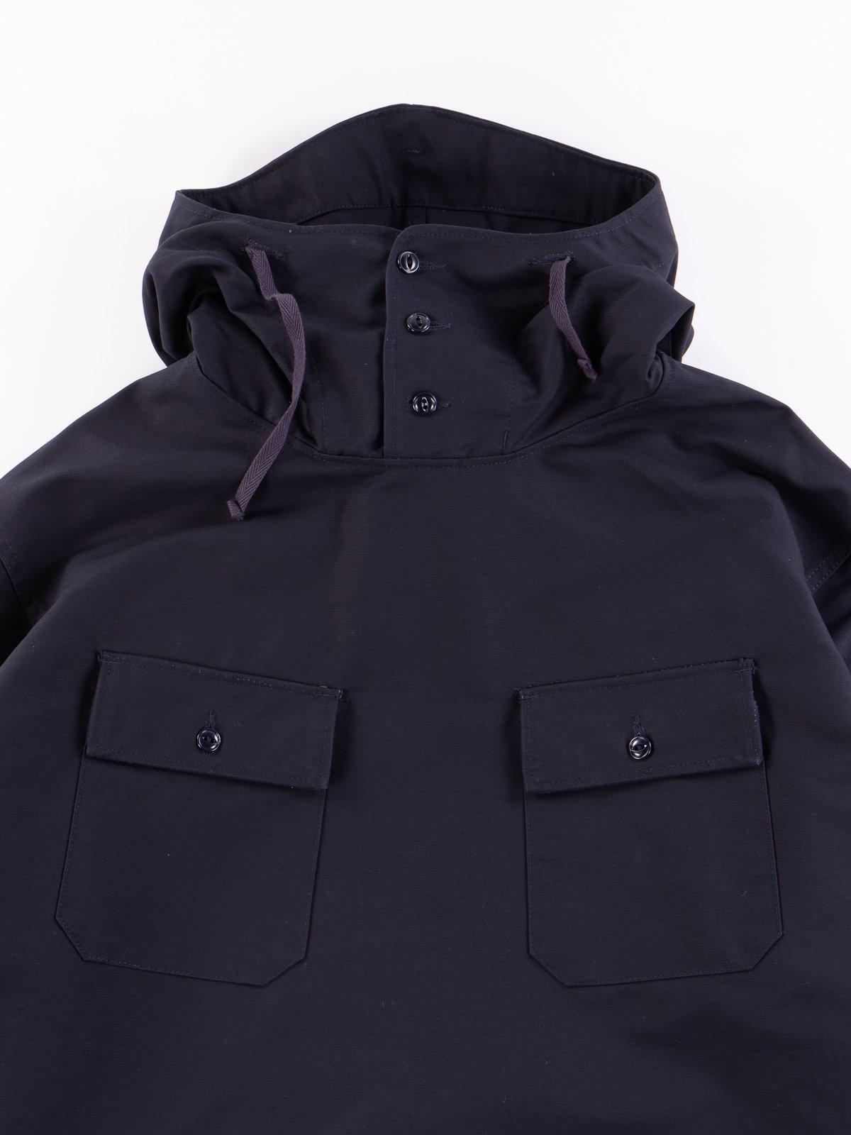 Navy Cotton Double Cloth Cagoule Shirt - Image 3