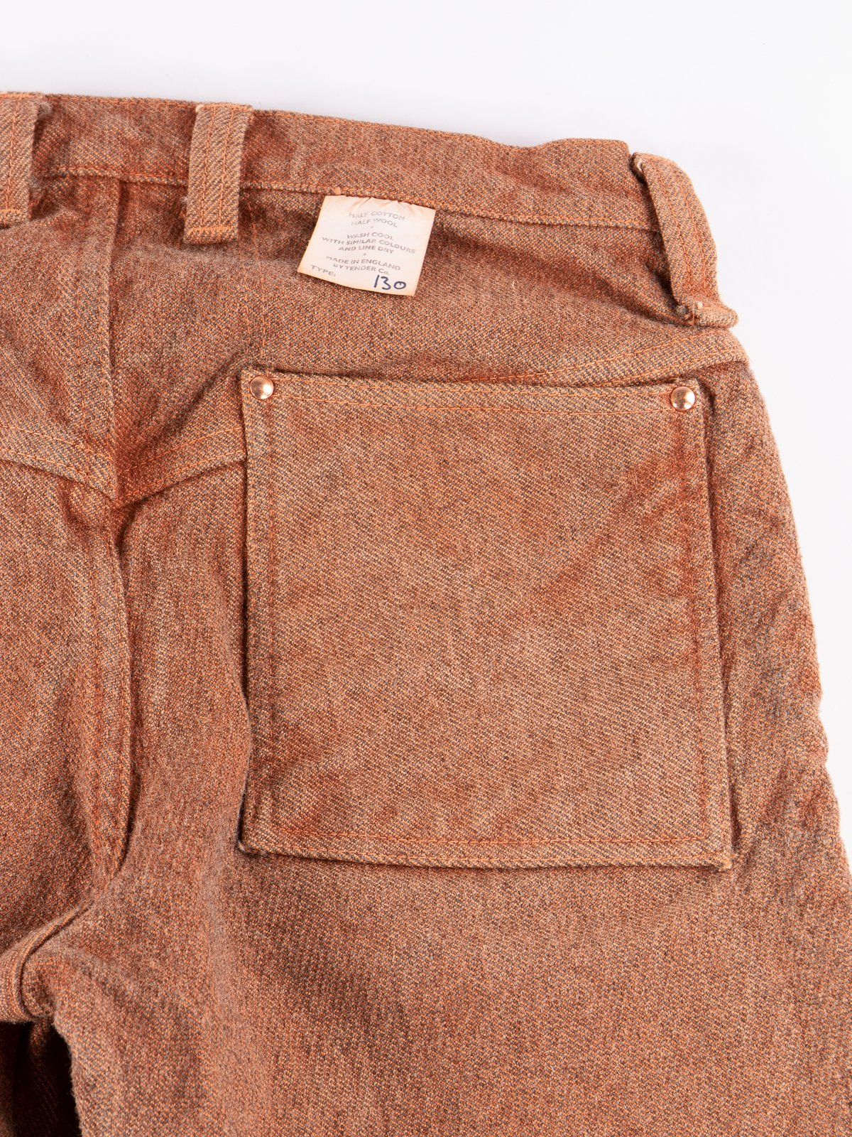Red Ochre Dye Tapered Jean - Image 6