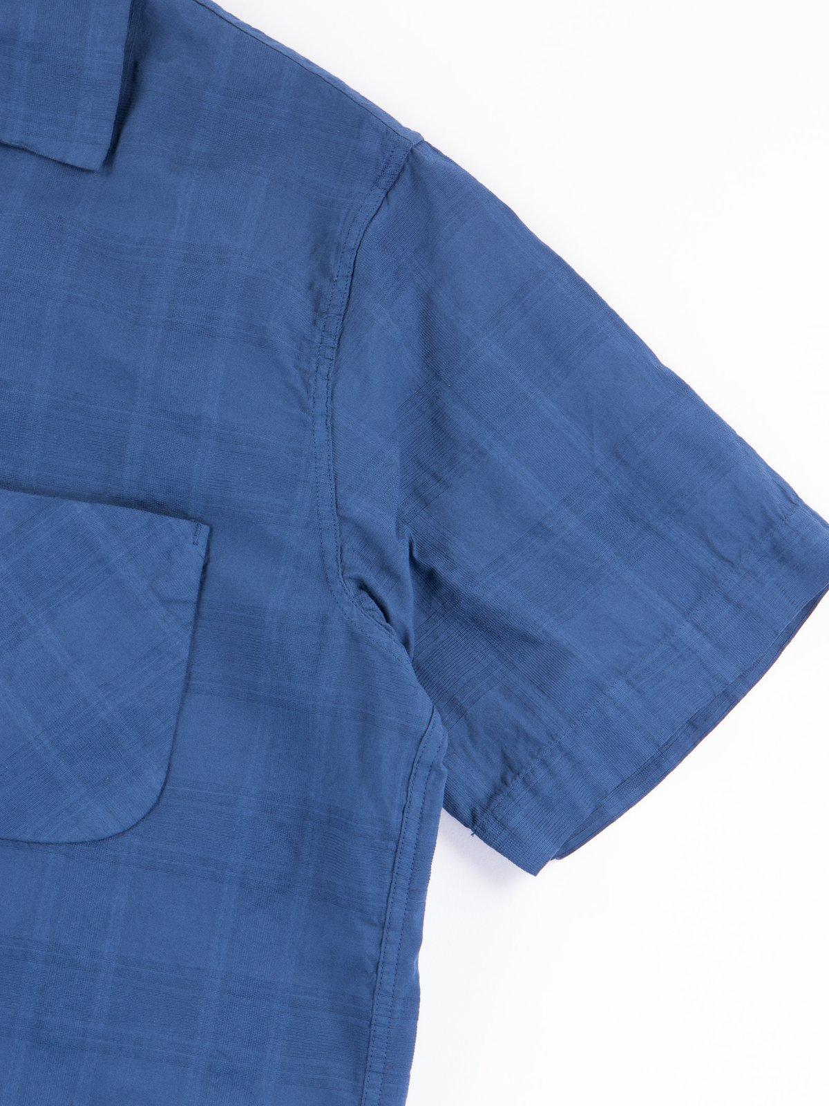 Navy Blue Open SS Shirt - Image 3