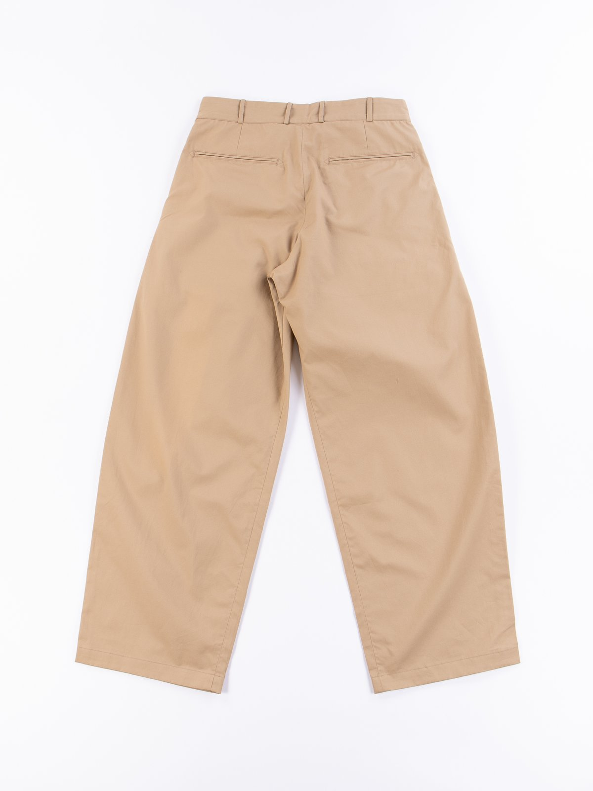 Khaki Oxford Vancloth Triple Tuck Wide Pant - Image 5
