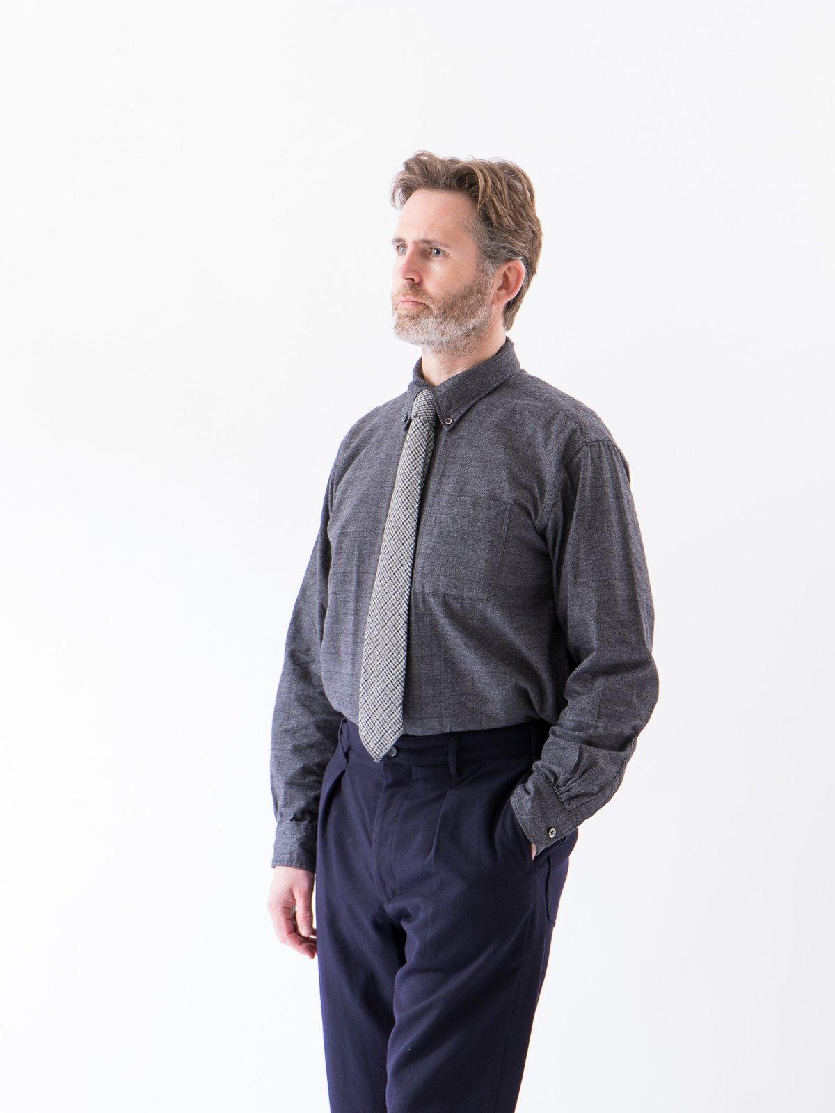 Grey Cotton Glen Plaid 19th Century BD Shirt - Image 2